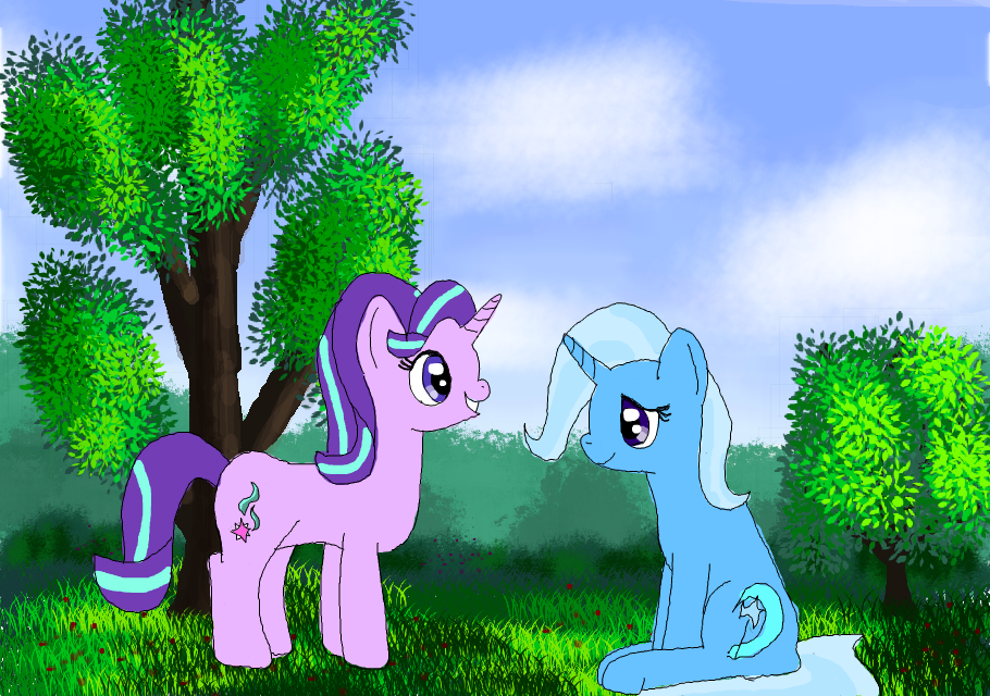 starlight and trixie by platinumdrop
