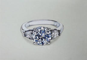 Diamond ring drawing by DMartIT