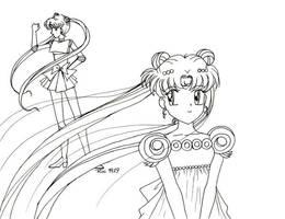 Retro Art: Sailor Moon Hime by rioka