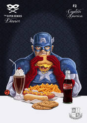 SUPER HEROES DINNER #2 Captain America by Gengiskahn