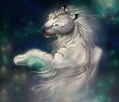 White Tiger Digital Drawing by SerraArc