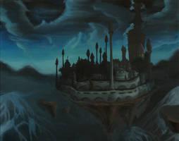 The Mage city - Dalaran by SerraArc