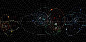 Galactica Stellar Map of Cimtar (Color) by TronTrek