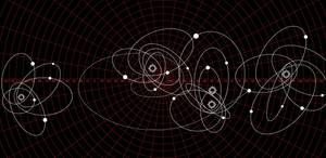 Galactica Stellar Map of Cimtar (Red/White) by TronTrek