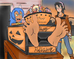 Trick 'r Treat, smell my feet! by Azure-Arts
