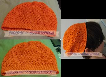 Orange X Stitch Hat by pbcpony