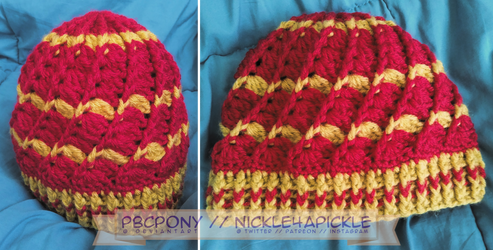 Shell Hat: Gryffindor by pbcpony