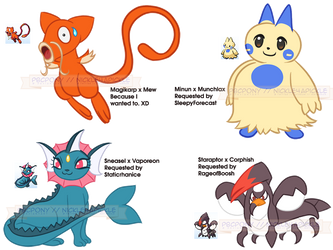 PokeFusions from 4-16's Stream by pbcpony