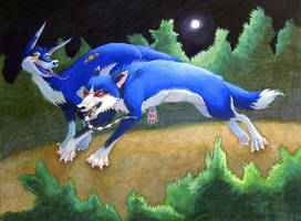 Reign of the Blue Doggies by GrowlyLobita