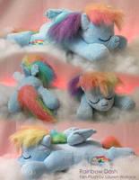 Sleepy Rainbow Dash Plushie by GrowlyLobita