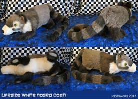 Lifesize Coati Plushie by GrowlyLobita