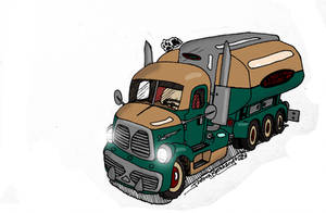 Dieselpunk Truck II by SilverwolvesForever