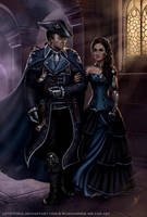 Rune and Daughter- formal dress (Commission) by LPVictoria