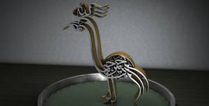 Bird calligraphy by iskander71