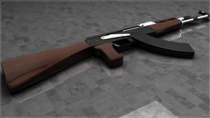 Ak47 rendering by iskander71