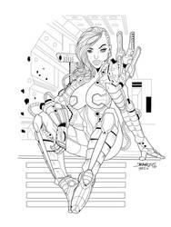 SciFi Girl inks over Rantz by seggleston