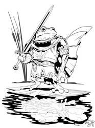 Frog Prince by Max Dunbar Inks by Sam Eggleston by seggleston