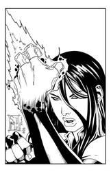 Cyblade by Sheldon Mitchell, inks by Sam Eggleston by seggleston