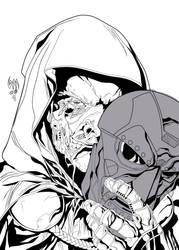 Dr. Doom by Wrath of Khan w/ Inks by Sam Eggleston by seggleston