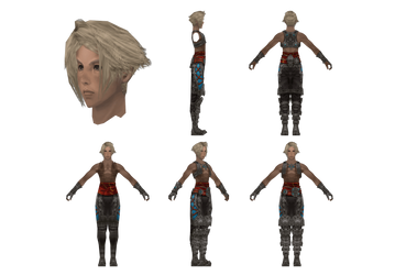 FFXII Model Reference: Vaan by CaptJapan
