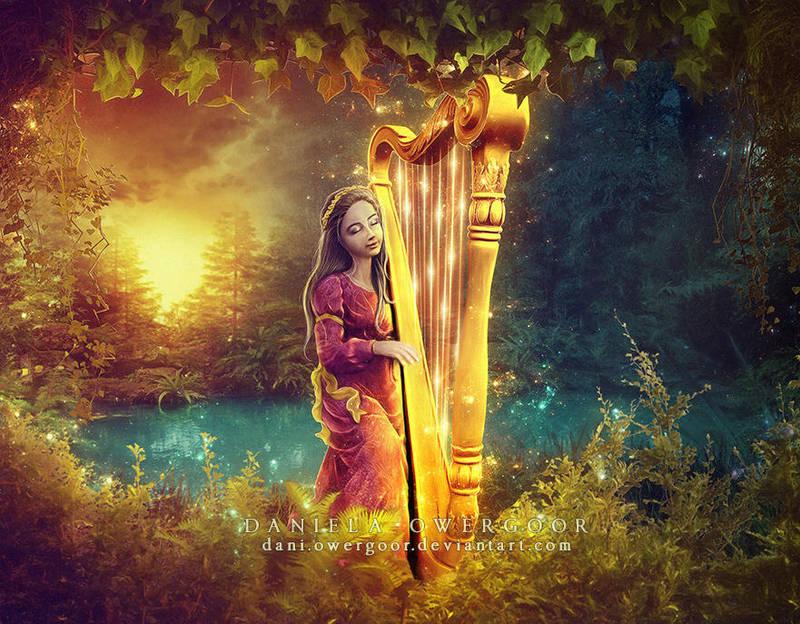 The Secret Garden and The Golden Harp by Dani-Owergoor