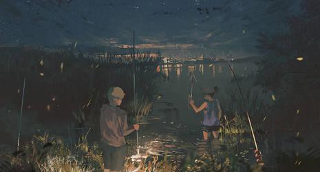 Night Fishing by Klegs