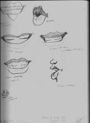 Mouth Sketches (Practice) by TheObcobi