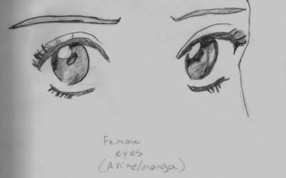 Anime Girls Eyes Sketch by TheObcobi