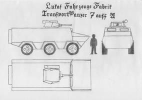 Lukas Fahrzeug Fabrik TransportPanzer 7 ausf A by RJDETONADOR97