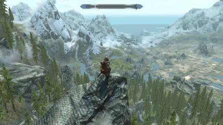 Skyrim Screenshot - Admiring the Landscape by RJDETONADOR97