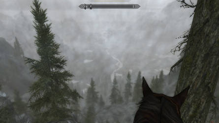 Skyrim Screenshot - Riding through the Mountain by RJDETONADOR97