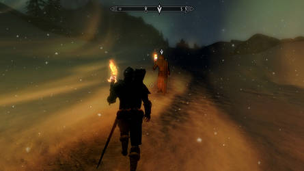 Skyrim Screenshot - Walkers on the storm by RJDETONADOR97
