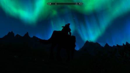 Skyrim Screenshot - Aurora night by RJDETONADOR97