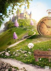 Welcome In Wonderland Poster by Jennifer Renson by JenniferRenson
