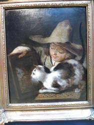 Cat looks in Mirror by Seikusa