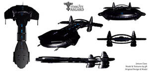 Stargate - Asgard - Jotunn Class (original design) by guandigs
