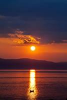 Ohrid Lake Sunset by PortraitOfaLife