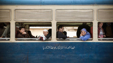 Alexandria Tram People by PortraitOfaLife