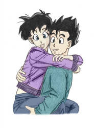 Gohan and Videl by sora26