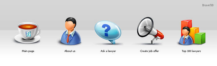 Iconset for Lawyers website by BraveDesign