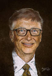 Bill Gates - Smudge Painting by nazimskikda