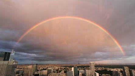 Rainbow over Paris by djooleean