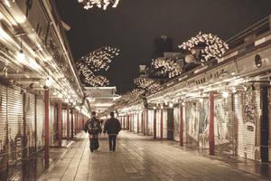 Asakusa night, Japan by djooleean