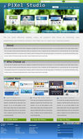PiXels Studio Design Interface by rameexgfx