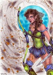 Elvish Warrior by Verlisaerys