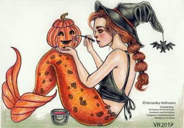 Halloween Mermaid by Verlisaerys