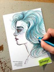 Turquoise Mermaid by Verlisaerys