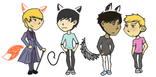 fox-cat-wolf-bun by sidgewick