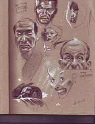 Toned sketchbook by JHarren