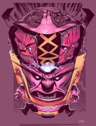 Kirby Head 3 color by JHarren